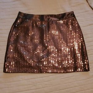 GAP brown sequin skirt